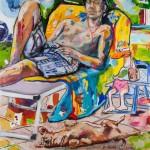 Best Friends, Acryl auf Leinwand, 100x100cm, 2012