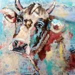 Cute Cow, Acryl auf Leinwand, 100x100 cm, 2016