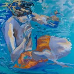 Abgetaucht,  Acryl auf Leinwand, 100x100 cm, 2013