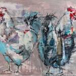 Männerfreundschaft, Acryl auf Leinwand, 60x80 cm, 2013