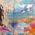 Adele, 2-teilig, Acryl auf Leinwand, 80x180xm, 2015