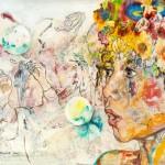 Memories Kindertage, Bubbles, Acryl auf Leinwand, 110x160cm, 2015