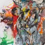 Nur geträumt, Acryl auf Leinwand,110x90cm, 2015