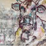 Verblassende Erinnerung, Acryl auf Leinwand/Stoff,100x110cm, 2015
