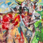 Weidengeschichten, Acryl auf Leinwand, 120x140cm, 2015