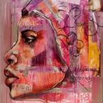 Begegnungen, Djigueme Bourey, Acryl auf Leinwand, 120x100cm, 2009