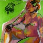Begegnungen, Elocy im Grünen, Acryl auf Leinwand, 100x120cm, 2008