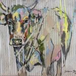Durchbruch,  Acryl auf Leinwand und Stoff, 100x120 cm, 2015