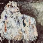 Edelweiss,  Acryl auf Leinwand und Stoff, 100x140 cm, 2015