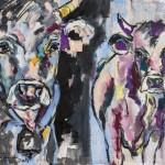 Jungs,  Acryl auf Leinwand und Stoff, 100x80 cm, 2015