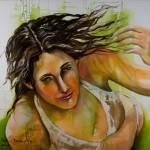 Von der Leichtigkeit des Seins, Acryl auf Leinwand, 140x140cm, 2008