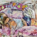 Morning wake up call,  Acryl auf Leinwand, 100x140 cm, 2015