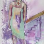 One Step, Acryl auf Leinwand, 140x100cm, 2011