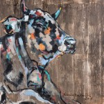 Tiefenentspannt, Acryl auf Leinwand, 100x100cm, 2015