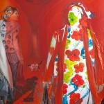 Vom Kommen und Gehen 2, Acryl auf Leinwand, 180x130cm, 2010
