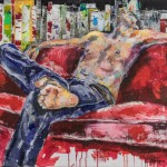 Was kostet die Welt, Acryl auf Leinwand, 100x140 cm, 2015