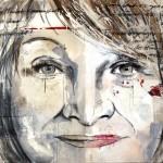 Alice Schwarzer, Acryl auf Leinwand, 100x120 cm, 2010