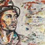 Roger, Acryl auf Leinwand, 100x140 cm, 2014