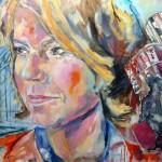 Bettina Böttinger, Acryl auf Leinwand, 110x160 cm, 2015