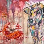 Purple Rain 2, Acryl auf Leinwand, 120x140 cm, 2015
