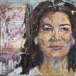 Hannelore Elsner, Acryl auf Leinwand, 100x120 cm, 2015