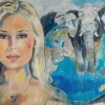 Ariane Sommer,  Acryl auf Leinwand, 120x160 cm, 2016