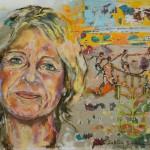 Baerbel Dieckmann,  Acryl auf Leinwand, 120x140 cm, 2016
