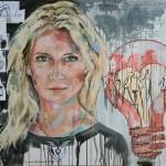 Jette Joop,  Acryl auf Leinwand, 120x140 cm, 2016
