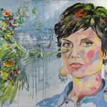 Sarah Nücken,  Acryl auf Leinwand, 110x160 cm, 2016