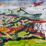 Gefühlt Heimat 7, Acryl auf Leinwand, 64x60 cm, 2016