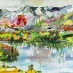 Gefühlt Heimat 5, Acryl auf Leinwand, 72x60 cm, 2016