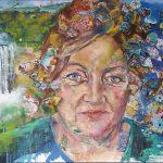 Marianne Sägebrecht, Acryl auf Leinwand, 120x160 cm, 2017