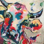 Little Cow, Acryl auf Leinwand, 60x60 cm, 2017