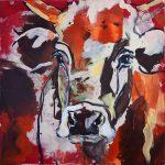 Nature Cow 1, Acryl auf Leinwand, 50x50 cm, 2017