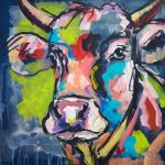 Smart Sophie, Acryl auf Leinwand, 50x50 cm, 2017