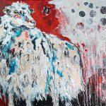 Red Rosalie, Acryl auf Leinwand, 100x140 cm, 2017