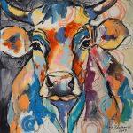 Bubble Cow, Acryl auf Leinwand, 60x60 cm, 2017