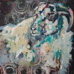 Bubble Sheep II, Acryl auf Leinwand, 60x60 cm, 2017