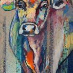 Striped Cow, Acryl auf Leinwand, 70x100 cm, 2017