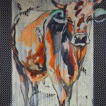 Pointed Cow, Acryl auf Leinwand, 160x120 cm, 2017