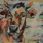 Rosi - Deeply Relaxed, Acryl auf Leinwand, 60x80 cm, 2017