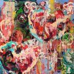 Nature Wild Flowers III, Acryl auf Leinwand, 100x120 cm, 2018