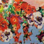 Nature Wild Flowers IV, Acryl auf Leinwand, 100x120 cm, 2018