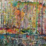 Wupper Berge, Acryl auf Leinwand, 100 x 100 cm, 2018