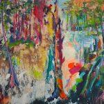 Wald an der Wupper, Acryl auf Leinwand, 100 x 140 cm, 2018