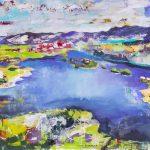 Gefühlt Heimat 4, Acryl auf Leinwand, 100 x 110 cm, 2016