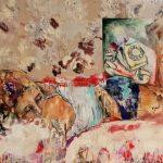 Morning wake up call, Acryl auf Leinwand, 100 x 140 cm, 2018