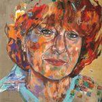 Hannelore Hoger, Acryl auf Leinwand, 160 x 140cm, 2018