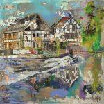 Wipperkotten Solingen, Acryl auf Leinwand,140 x 140 cm, 2018