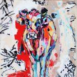 Little Cow 2, Acryl auf Leinwand, 50 x 50 cm, 2018